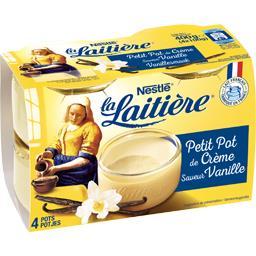 Nestlé La Laitière Petit pot de crème à la vanille les 4 pots de 100 g