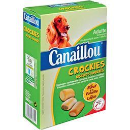 Biscuits fourrés Crockies bœuf/volaille/lapin pour c...