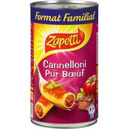 Cannelloni pur bœuf sauce napolitaine, format familiale