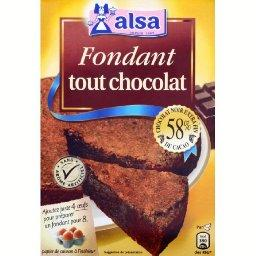 Fondant tout chocolat, chocolat noir
