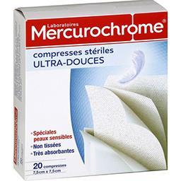 Compresses ultra-douces stériles 7,5 cm x 7,5 cm