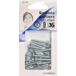 Boulon poêliers acier zingué 4mm 30mm
