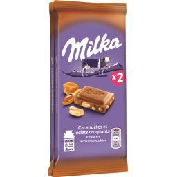 Chocolat au lait cacahuètes et éclats croquants