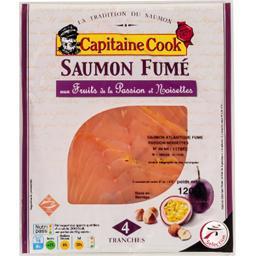 Saumon fumé aux fruits de la passion et noisettes