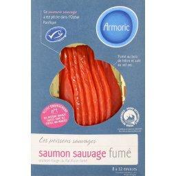 Emincés de saumon sauvage fumé