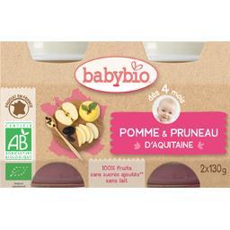 Desserts pomme pruneau d'Agen BIO, dès 4 mois