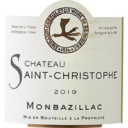 Monbazillac Château Saint Christophe vin Blanc moelleux 2015
