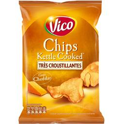 Chips kettle cooked cheddar VICO 120g