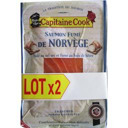 Capitaine Cook Saumon fumé de Norvège le barquettes de 150 g