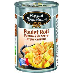 Poulet rôti pommes de terre et jus cuisiné