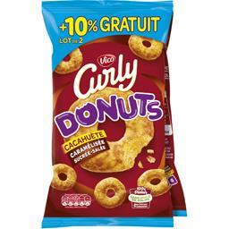 Curly - Biscuits apéritif Donuts cacahuète caramélis...