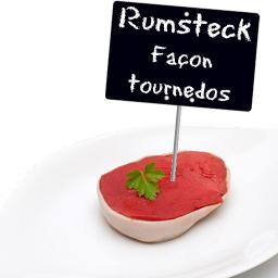Rumsteck, facon tournedos