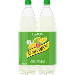 Schweppes Boisson Lemon aux saveurs de 4 citrons