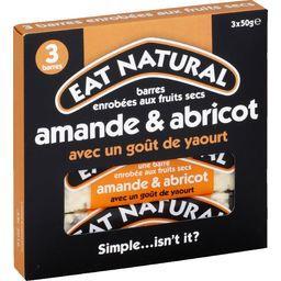 Barres amande & abricot avec un goût yaourt