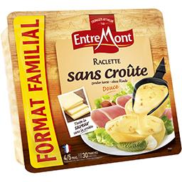 Entremont Fromage à raclette sans croûte la barquette de 700 g - Format Familial