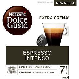 Nescafé Nescafé Dolce Gusto - Capsules de café Espresso Intenso les 16 capsules de 7 g