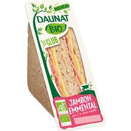 Daunat Sandwich pain de mie jambon emmental BIO le sandwich de 140 g