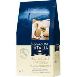Creazioni d'Italia Biscuits Baci Di Dama Tortonesi amandes chocolat les 15 biscuits de 10 g