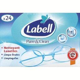 Pure & Clean, lingettes pour lunette nettoyantes ant...