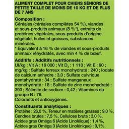 Croquettes Mini menu Vitafit Senior au bœuf pour chi...