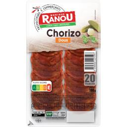 Monique Ranou Chorizo doux la barquette de 20 tranches - 100 g