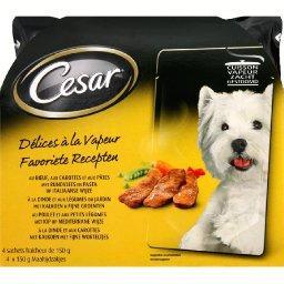 Aliment pour chiens, bœuf/dinde/poulet, Délices à la vapeur