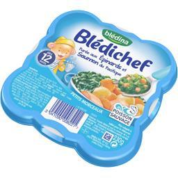 Blédichef - Purée aux épinards et saumon du Pacifiqu...
