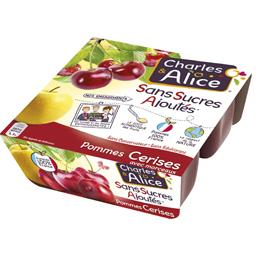 Pommes cerises avec morceaux sans sucres ajoutés