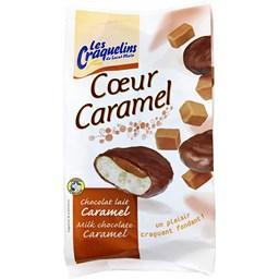 Petit craquelin cœur caramel chocolat lait