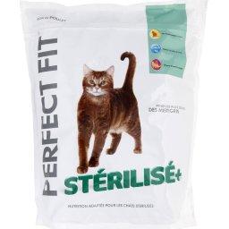 Croquettes Stérilisé+ riche en poulet pour chats stérilisés