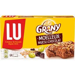 Grany - Barres de céréales muesli chocolat Moelleux