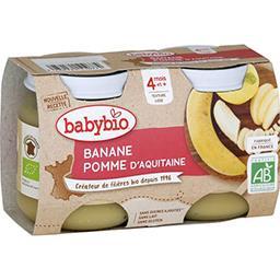 Desserts pomme d'Aquitaine banane BIO, dès 4 mois