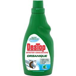 Gel organique entretien canalisation parfum menthe