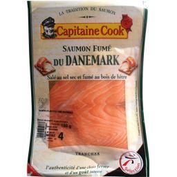 Capitaine Cook Saumon fumé du Danemark le paquet de 4 tranches - 150 g