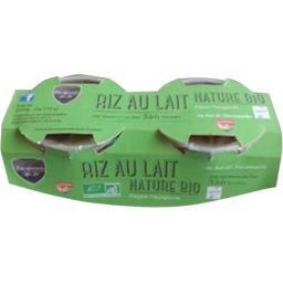 Les Desserts de Jo Riz au lait nature BIO les 2 pots de 110 g