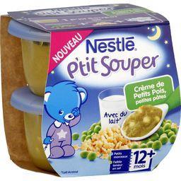 P'tit Souper - Crème de petits pois, petites pâtes, ...