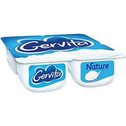 Gervita - Fromage blanc nature sous mousse fouettée