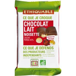 Chocolat au lait 42% noisettes entières BIO