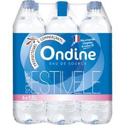 Eau de source naturelle Ondine,INTERMARCHE,Le pack de 6x1.5 L - 9 L