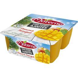 Sans Sucres Ajoutés - Dessert fruitier pomme mangue