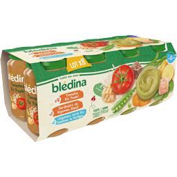 Blédina Assortiment légumes riz poulet bœuf saumon, de 6 à 3...