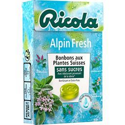 Bonbons suisses aux plantes sans sucres Alpin Fresh
