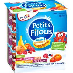 Petits Filous - Fromage frais sucré aromatisé, 6 parfums