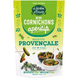 Le Jardin d'Orante Mini cornichons apéritifs recette provençale le sachet de 100 g