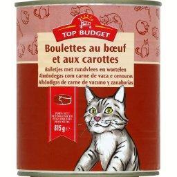 Boulettes en sauce au bœuf et aux légumes pour chat