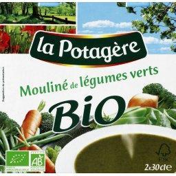 BIO - Potage, mouliné de légumes verts