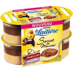 Secret de Mousse - Mousse Duo chocolat lait/chocolat blanc