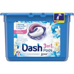 Dash 3en1 - pods - fleurs de lotus - lessive en capsules...
