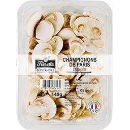 Champignon de Paris émincé, FRAICHEUR FLORETTE, barquette, 140g