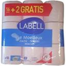 Labell Papier toilette Le Moelleux le paquet de 16 rouleaux